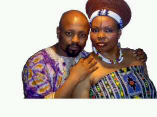 Themba with his wife Jabu